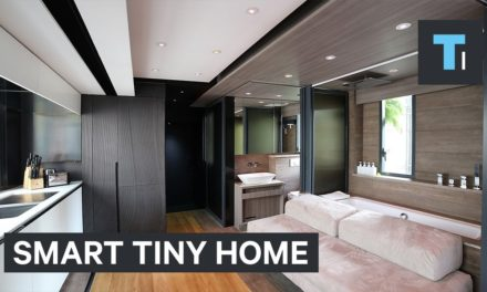 A smart house is packed into this transforming tiny home